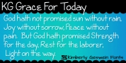 KG Grace For Today font download