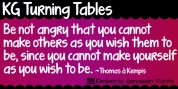 KG Turning Tables font download
