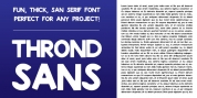 Thrond SANS font download
