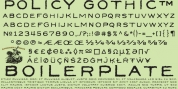 Policy Gothic font download