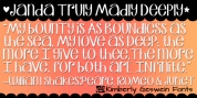 Janda Truly Madly Deeply font download