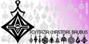 Fontazia Christmas Baubles font download