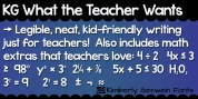 KG What The Teacher Wants font download
