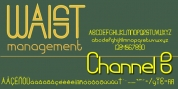 Channel B font download