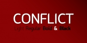 Conflict font download