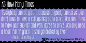 KG How Many Times font download