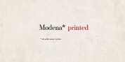 Modena Printed font download