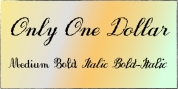Only One Dollar font download