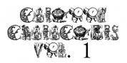 Cartoon Characters Volume 1 font download