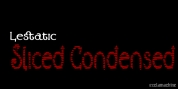 Lestatic Sliced Condensed font download