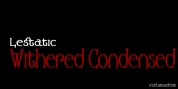 Lestatic Withered Condensed font download