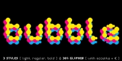 Curly Lava Bubble font download
