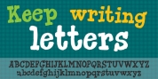 Keep Writing Letters font download
