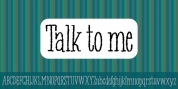 Talk To Me font download