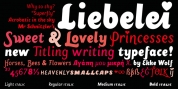 Liebelei Pro Italic font download