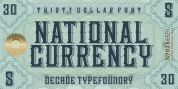 National Currency font download