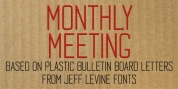 Monthly Meeting JNL font download