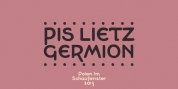 PiS LIETZ Germion font download
