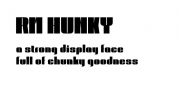 RM Hunky font download