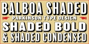 Balboa Shaded font download