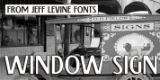 Window Sign JNL font download