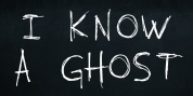 I know a ghost font download