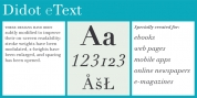 Linotype Didot eText Pro font download