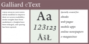ITC Galliard eText font download