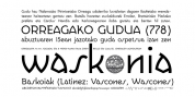 Waskonia font download