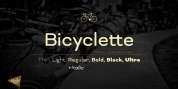 Bicyclette font download