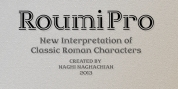 Roumi Pro font download