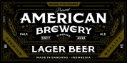American Brewery font download