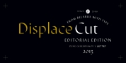 Displace Cut font download