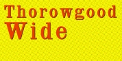 Thorowgood Wide font download