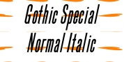 Gothic Special Normal Italic font download
