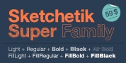 Sketchetik Fill font download