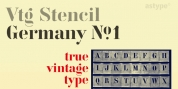 Vtg Stencil Germany No1 font download
