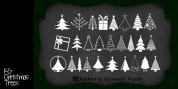 KG Christmas Trees font download