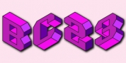 Isometric Initial Caps font download