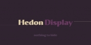 Hedon Display font download