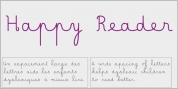 Happy Reader font download