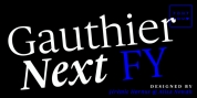 Gauthier Next FY font download