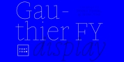Gauthier Display FY font download