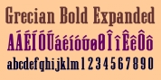 Grecian Bold Expanded font download