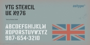 Vtg Stencil UK No 76 font download