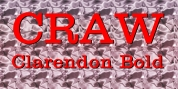 Craw Clarendon Bold font download