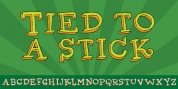 Tied To A Stick font download
