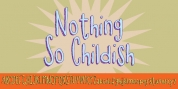 Nothing So Childish font download