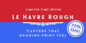 Le Havre Rough font download