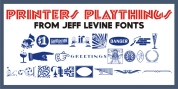 Printers Playthings JNL font download
